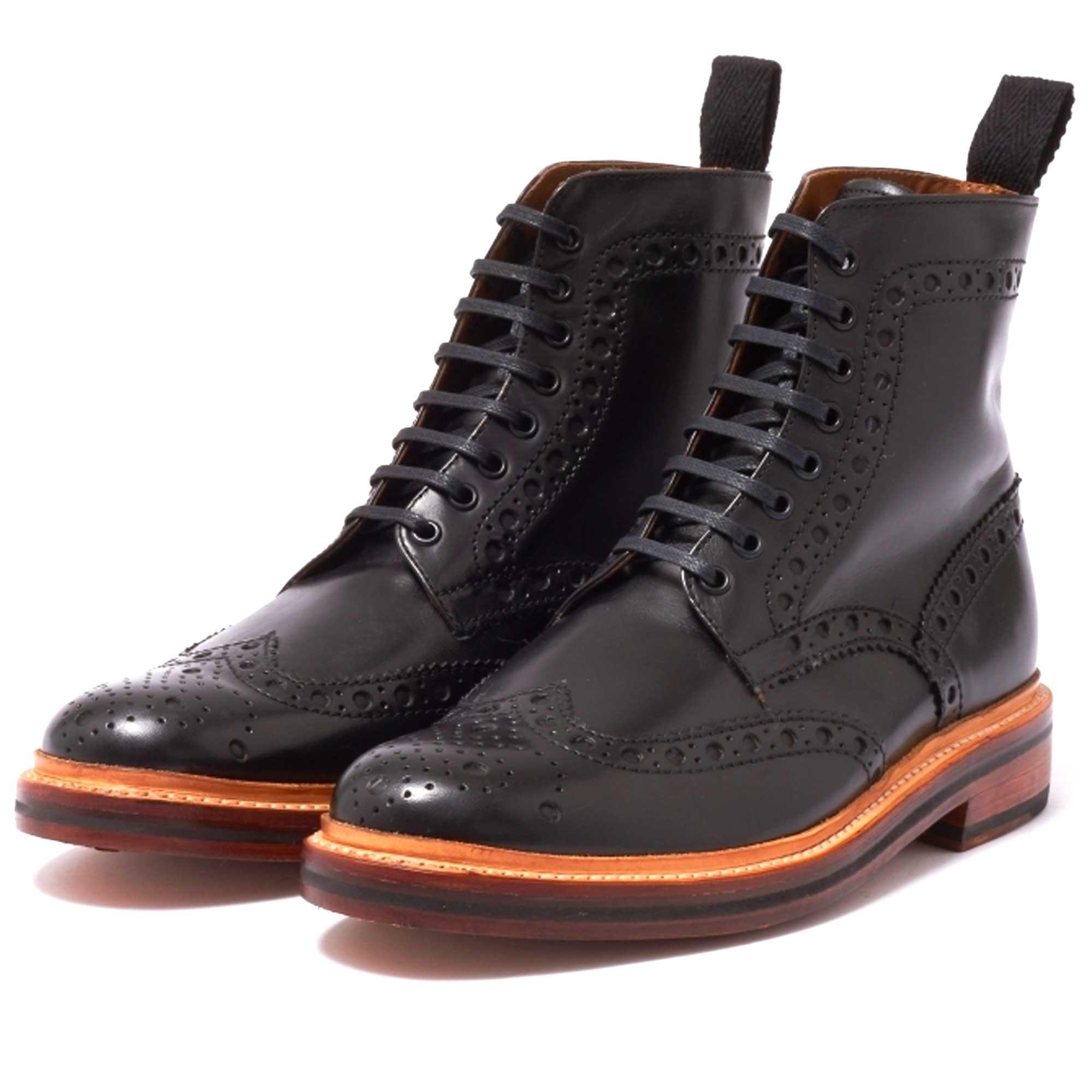 black grenson boots