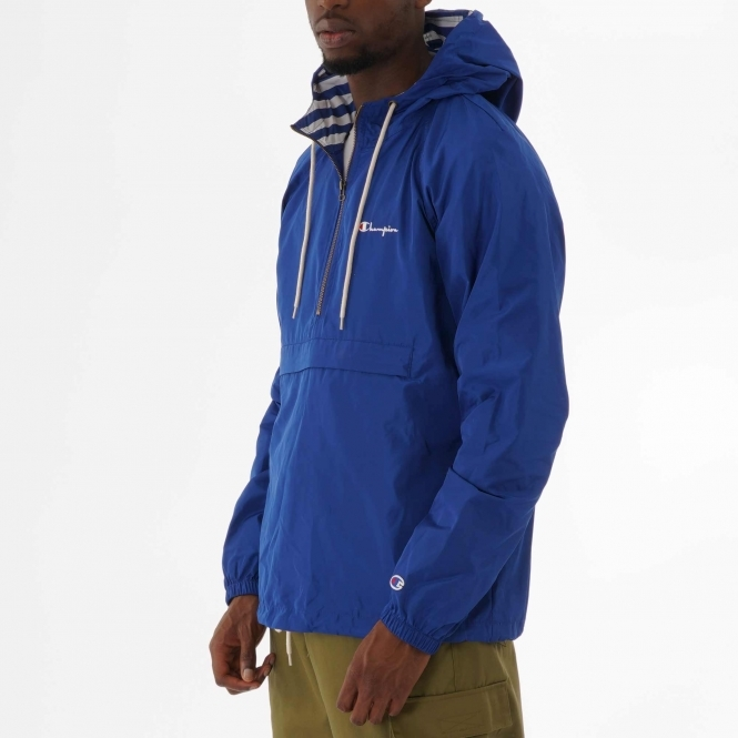 Champion Half Zip Hooded Jacket Blue