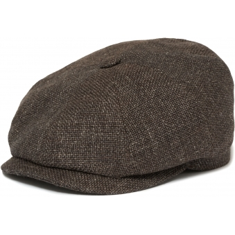 Hatteras Ellington Flat Cap- Brown