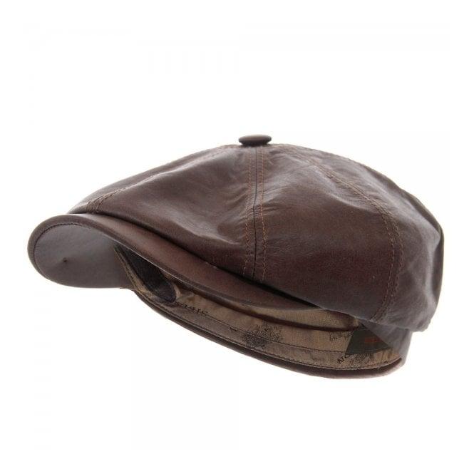 c9b03082119 Hatteras Lambskin Newsboy Cap- Brown