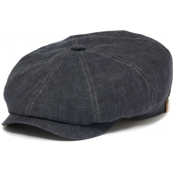 Hatteras Linen Hat- Dark Blue