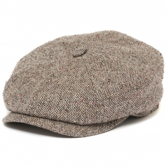 Hatteras Silk Newsboy Cap- Brown