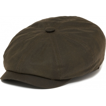 Hatteras Waxed Newsboy Cap- Green