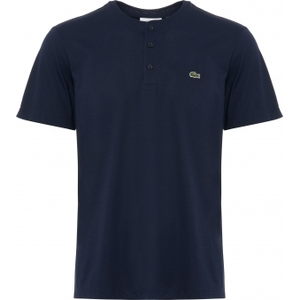 Marine Henley Neck Pima Cotton Jersey