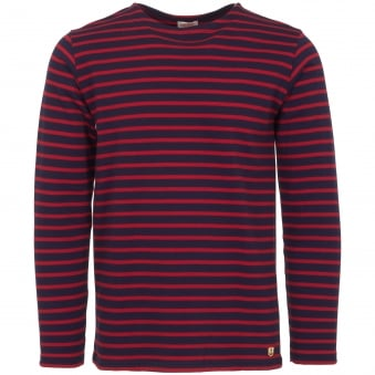 Dark Blue & Red Heritage Breton Shirt