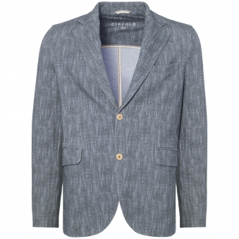 Light Blue Herringbone Stretch Blazer