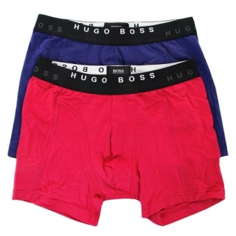 Hugo Boss 2 Pack Cyclist Open Pink Blue Boxer Shorts 50271736