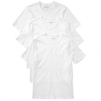 Hugo Boss 3 Pack White Cotton T-Shirts 50236738