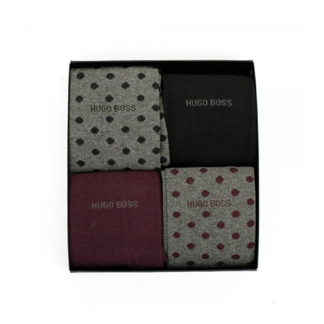 Hugo Boss Black Accessories Hugo Boss 4 Pack Design Box Socks 50299901