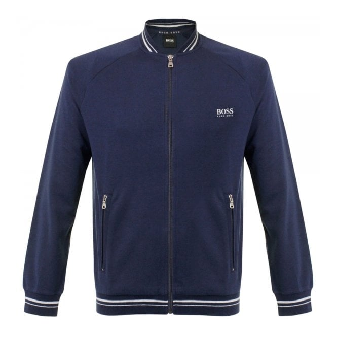 BOSS Hugo Boss Hugo Boss Black College Zip Open Blue Jacket 50290745