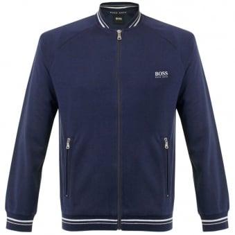 Hugo Boss Black College Zip Open Blue Jacket 50290745