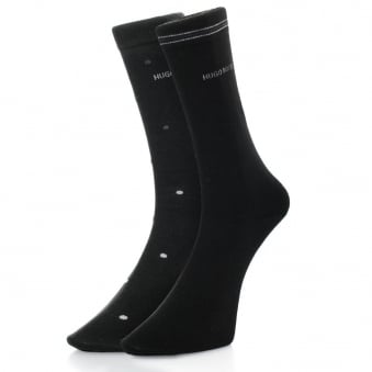 Hugo Boss Black Double Pack Patterned Black/Grey Socks 50312862