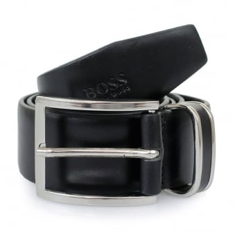 Hugo Boss Black Froppin Leather Belt 50151746 001