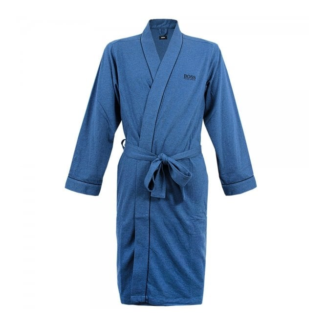 BOSS Hugo Boss Hugo Boss Black Kimono Open Blue Robe 50229070