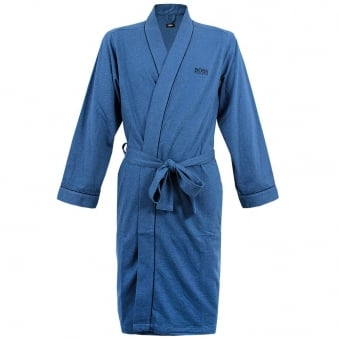 Hugo Boss Black Kimono Open Blue Robe 50229070