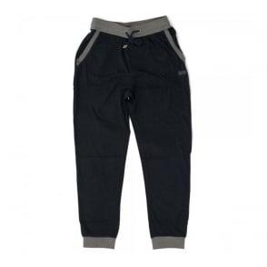 Hugo Boss Black Long Pant Cuffs Navy Track Top 50302788