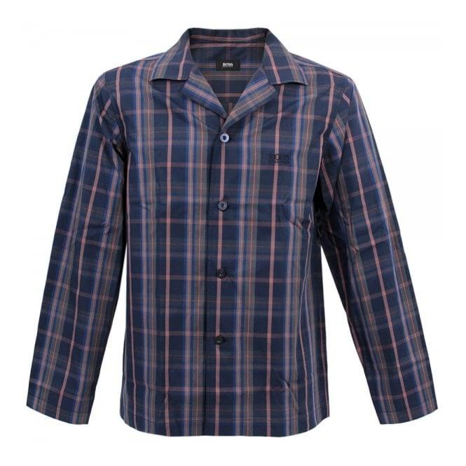 Hugo Boss Loungewear Hugo Boss Black Pyjama 2 Check Open Blue Pyjama 50260112