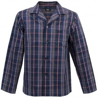 Hugo Boss Black Pyjama 2 Check Open Blue Pyjama 50260112