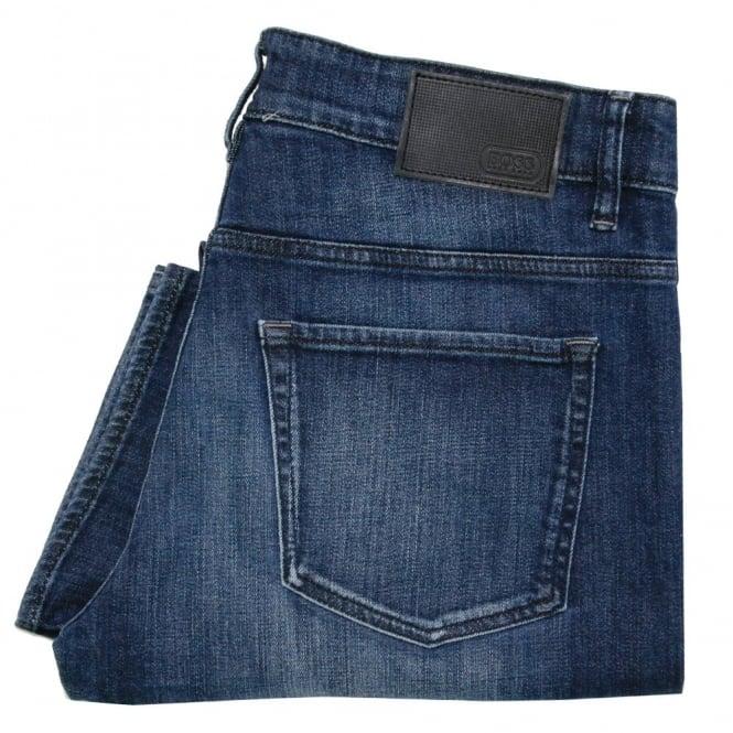 Hugo Boss Green Hugo Boss C-Delaware 1 Dark Blue Slim Fit Jeans 50320165