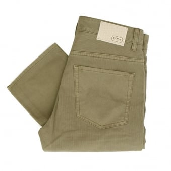 Hugo Boss C-Delaware1-20 Pastel Light Brown Corduroy Trousers 50308473