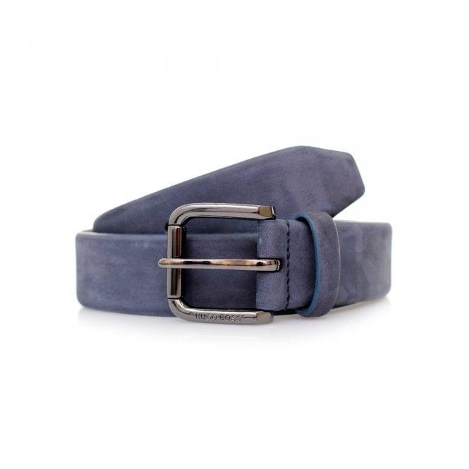 Hugo Boss Black Accessories Hugo Boss Cansianabu Dark Blue Leather Belt 50299685