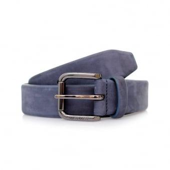 Hugo Boss Cansianabu Dark Blue Leather Belt 50299685