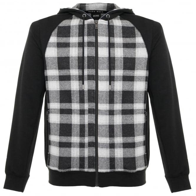 Hugo Boss Loungewear Hugo Boss Checked Black Sweatshirt Jacket 50322123