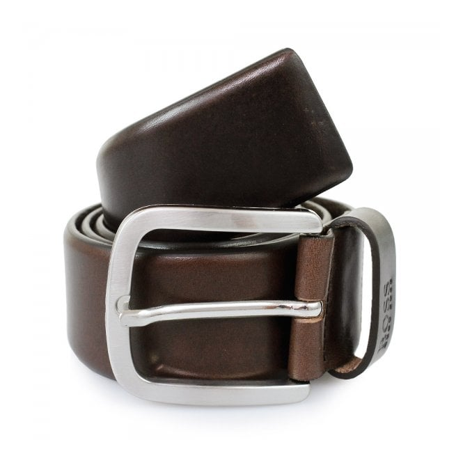 Hugo Boss Black Accessories Hugo Boss Dark Brown Leather Belt 50206885