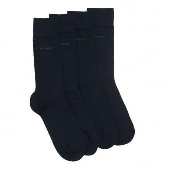 Hugo Boss Double Pack Dark Blue Socks 50272214
