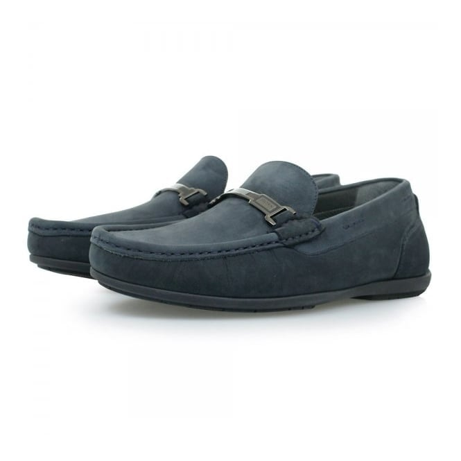 BOSS Hugo Boss Hugo Boss Flanac Dark Blue Moccasins Shoes 50298114