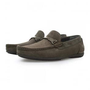Hugo Boss Flanac Dark Brown Moccasins Shoes 50298114