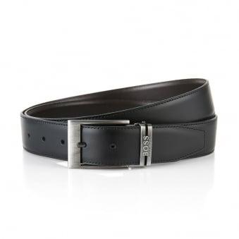 Hugo Boss Galliz Black Leather Belt 50286255