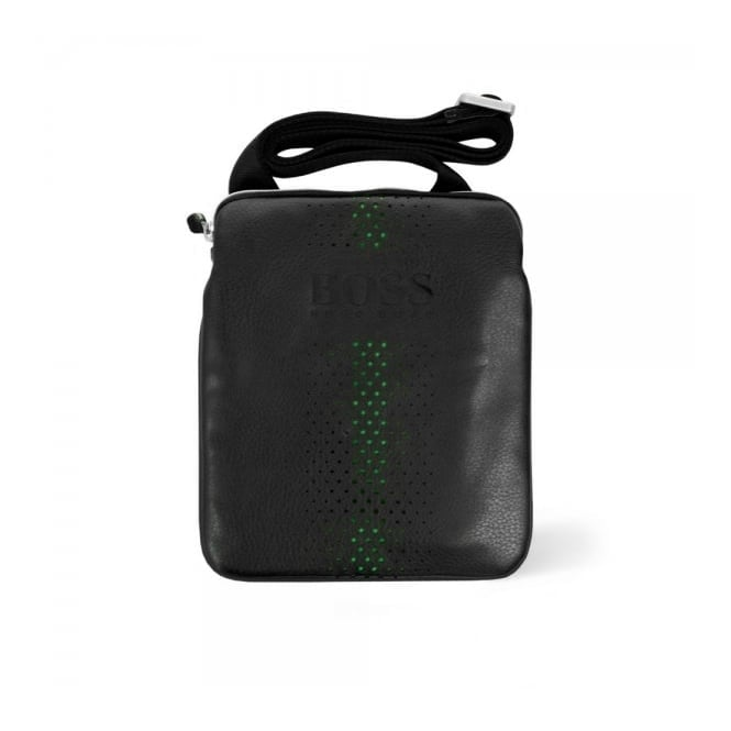 Hugo Boss Green Accessories Hugo Boss Grained Black Mini Bag 50298854