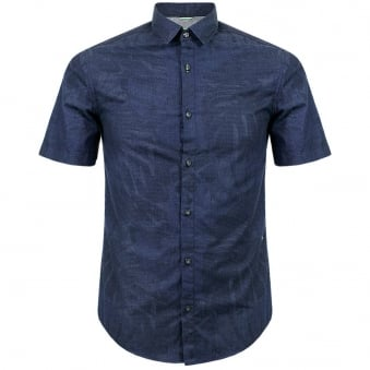 Hugo Boss Green Byagino Navy Shirt 50282855