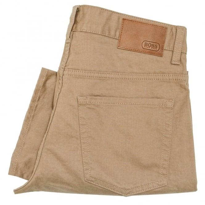 Hugo Boss Green C-Delaware2-20 Medium Beige Trousers 50320182