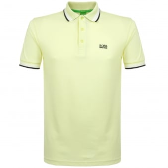 Hugo Boss Green open Yellow Polo Shirt 50302557