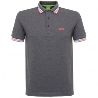 Hugo Boss Green Paddy Medium Grey Polo Shirt 50302557