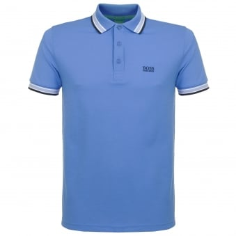 Hugo Boss Green Paddy Mid Blue Polo Shirt 50302557
