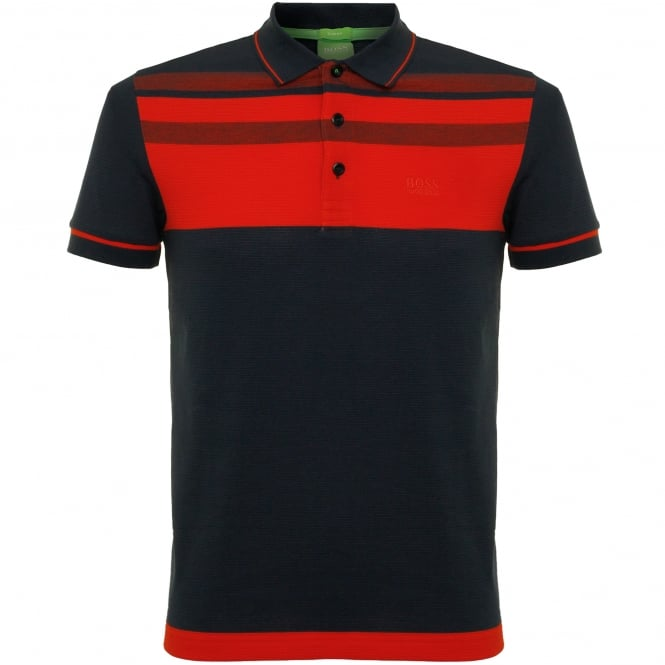 Hugo Boss Green Paule 2 Navy polo Top 50320603