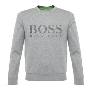 Hugo Boss Green Salbo Light Grey Sweatshirt 50312753