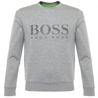 Hugo Boss Green Salbo Light Grey Sweatshirt 50312753