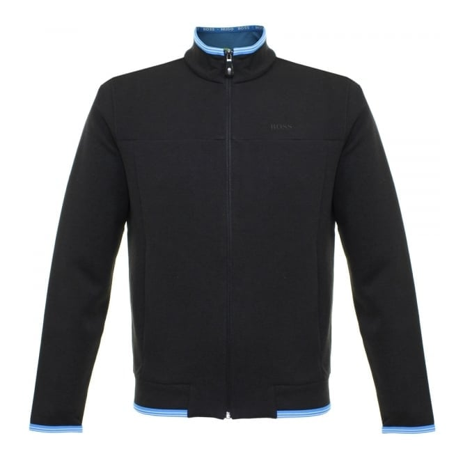 Hugo Boss Green Sendri Black Zip Sweatshirt Jacket 50322009