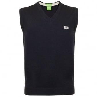 Hugo Boss Green Vily_01 Navy Wool Slipover 50310752