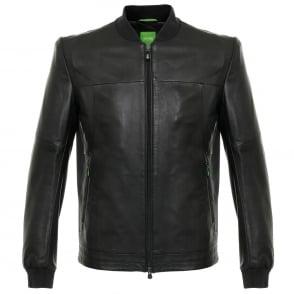 Hugo Boss Jolmen Black Leather Jacket 50319994