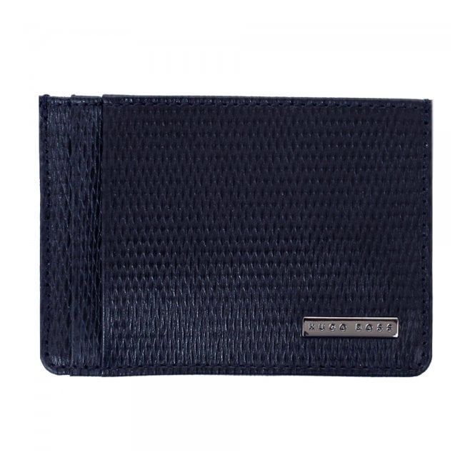 Hugo Boss Black Accessories Hugo Boss Luber Dark Blue Card Holder 50248861