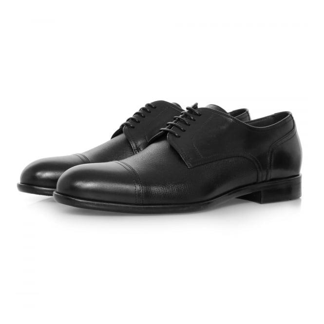 Hugo Boss Black Footwear Hugo Boss Manhattan Derby Leather Black Shoe 50321647