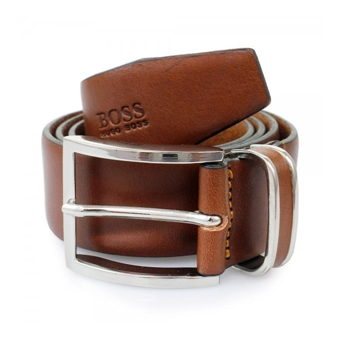 Hugo Boss Black Accessories Hugo Boss Medium Brown Froppin Leather Belt 50151746 210