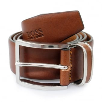 Hugo Boss Medium Brown Froppin Leather Belt 50151746 210