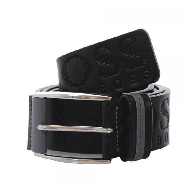 Hugo Boss Green Accessories Hugo Boss Millow Black Leather Belt 50202917