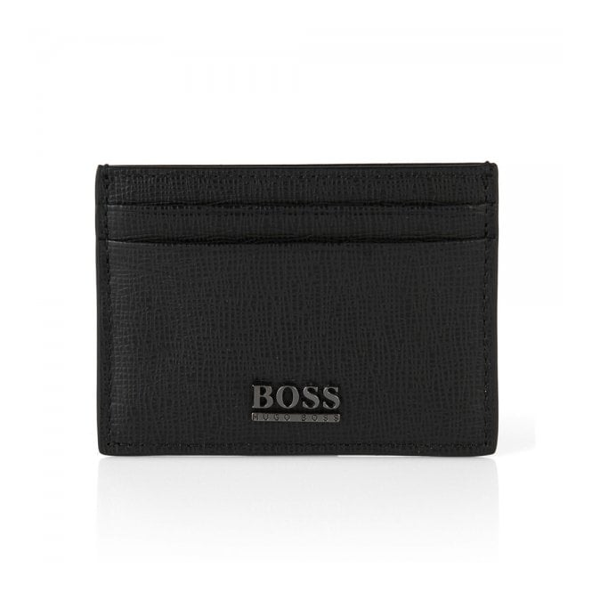 BOSS Hugo Boss Hugo Boss Mukes Black Leather Card Case 50305588